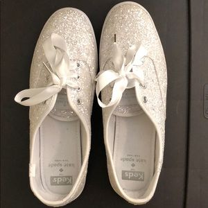 White sparkly shoes